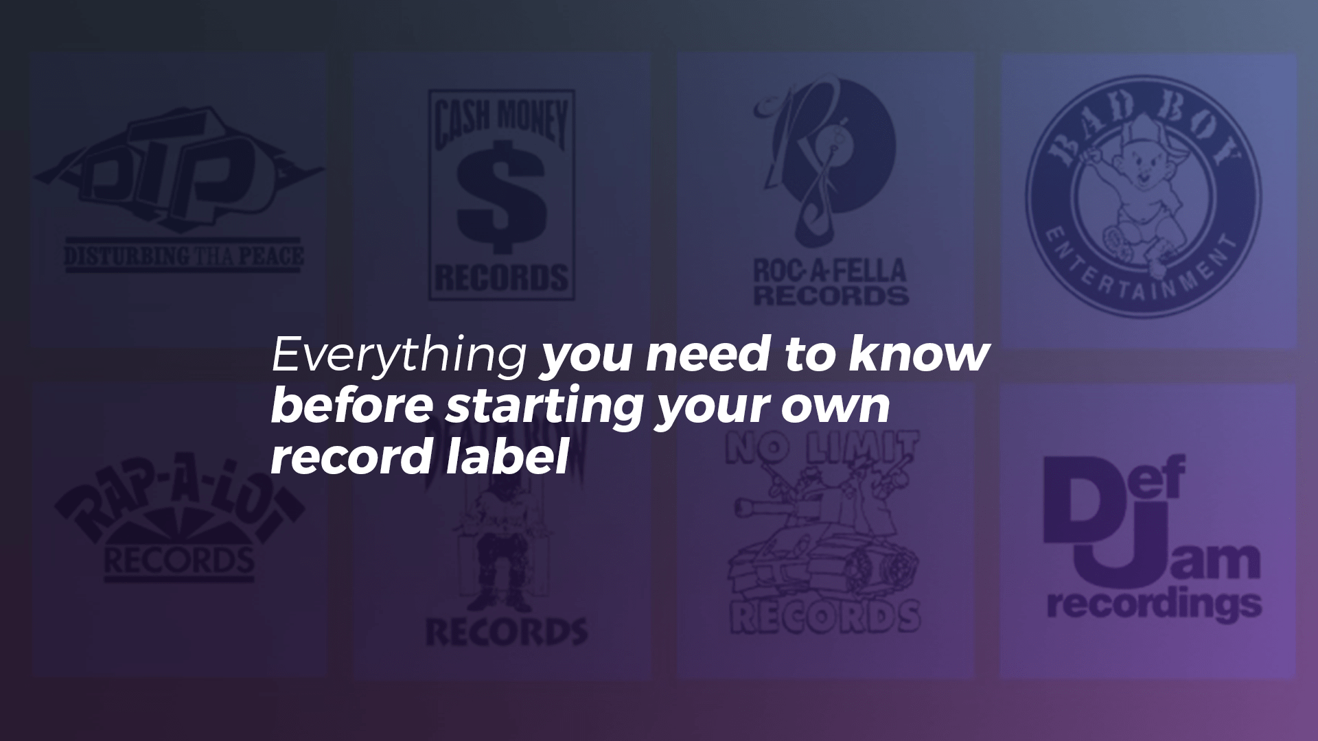 How to start your own record label